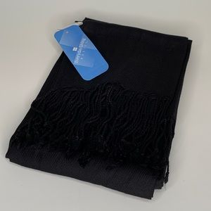 New never used black scarf